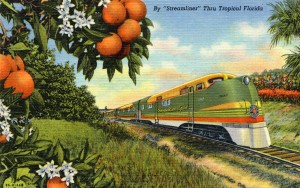 The Orange Blossom Special popularized train travel throughout tropical Florida.
