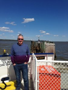 Jack and I took the ferry from Smithfield to meet Jackson in Williamsburg.