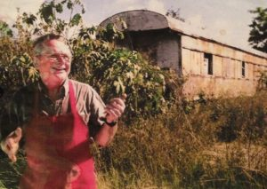 A photo of Bob, he shared with us when he first opened the train restaurant in 2007.